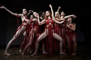 Dakota Johnson and cast in Suspiria