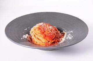 Il piatto vincitore:lo spaghetto al pomodoro di Carolina Diaz