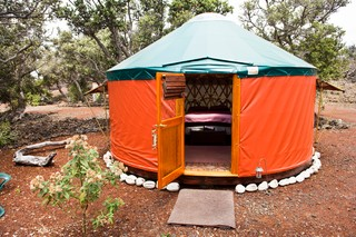 Yurt living on the Big Island in Hawaii.