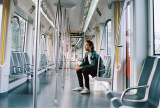 man in de metro
