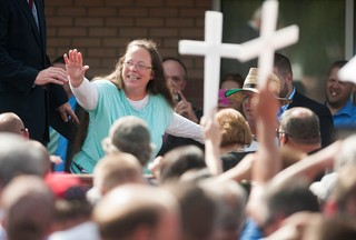 Kim Davis at a rally