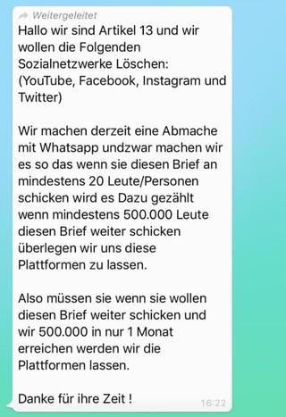 Screenshot WhatsApp