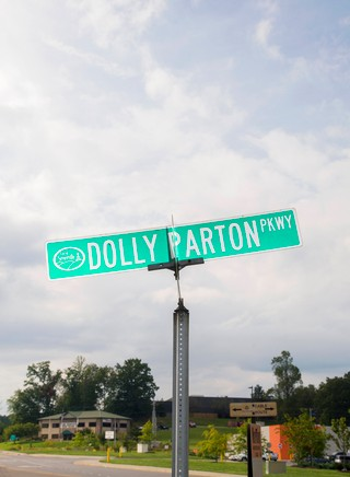 The roadside for the Dolly Parton Parkway