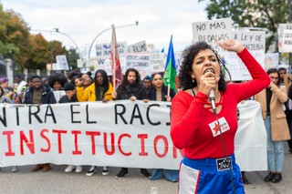 manifestación antiracista cierre cies Madrid 11N