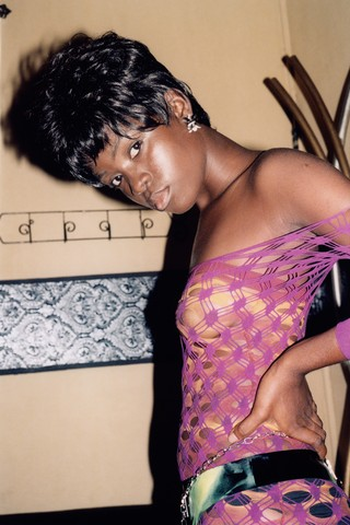 models wearing mowalola shot b joyce sze in nigeria