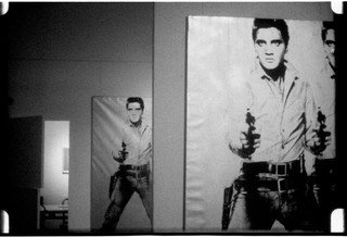 Andy Warhol (1928–1987), Elvis at Ferus, 1963. 16mm, b&w, silent; 4.0 min. @ 16 fps, 3.5 min. @ 18 fps © 2018 The Andy Warhol Museum, Pittsburgh, PA, a museum of Carnegie Institute. All rights reserved.