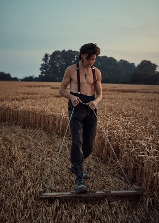 Young man working on a farm in Norfolk