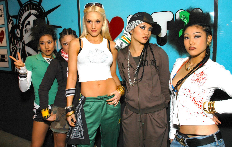Gwen Stefani with Harajuku girls