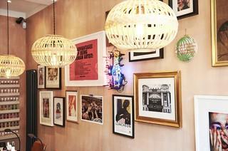 The wall art inside Ama Quashie's Brixton nail salon