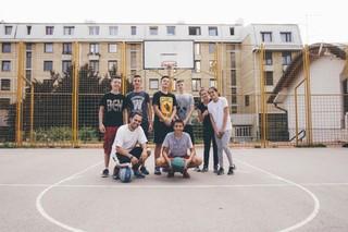 Basketballers in Bosnië.