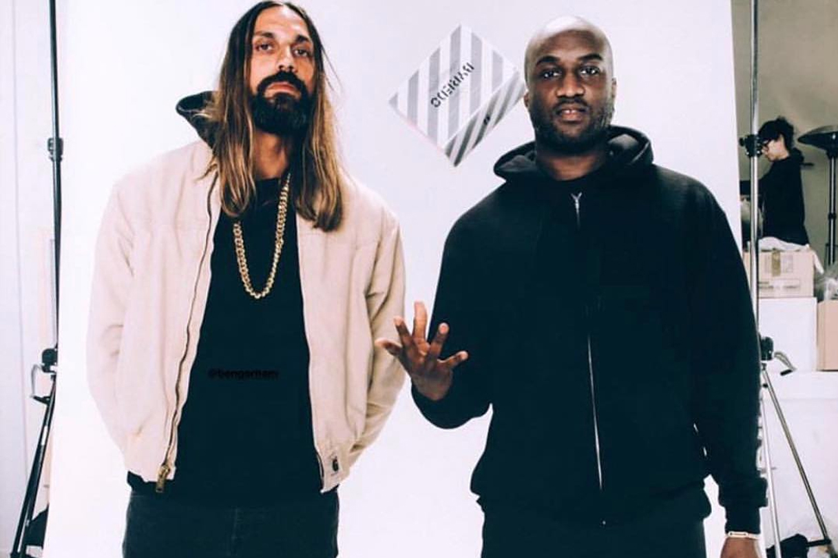 Byredo founder Ben Gorham and Virgil Abloh