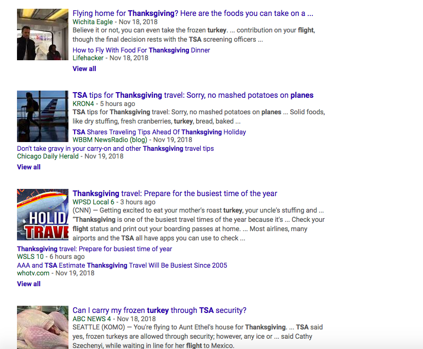 screengrab news about taking a turkey on a plane