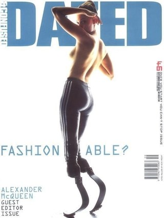Aimee Mullins on the cover of Dazed magazine
