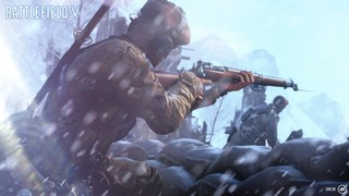 A soldier with a fixed bayonet takes aim in BFV