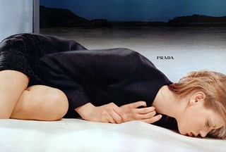Photography Norbert Schoerner. Prada autumn/winter 98 campaign, Angela Lindvall.