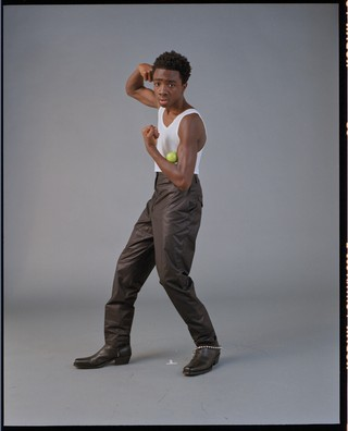 Caleb Mclaughlin from Stranger Things photo shoot