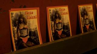 Flyer Porno Flohmi für Zürcher Langstrasse