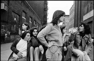 Susan Meislas photographs girls on the street