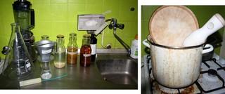 keukengerei om drugs te maken