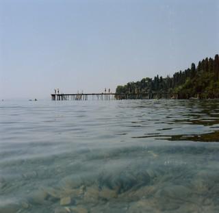 yann faucher photographs a pier in greece