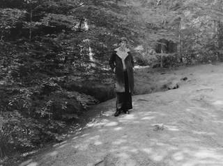 yann faucher photographs a model in the woods