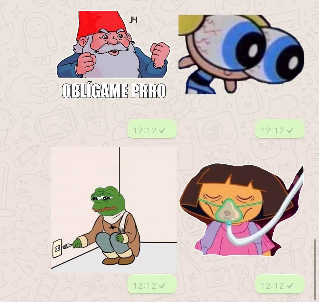Hicimos Un Grupo De Whatsapp Para Enviar Stickers Y Estos