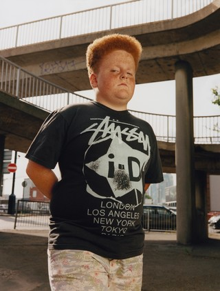 maxwell tomlinson photographs a kid wearing an i-D stussy t-shirt