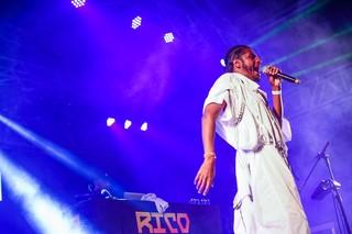 Rico Dalasam no festival Favela Sounds