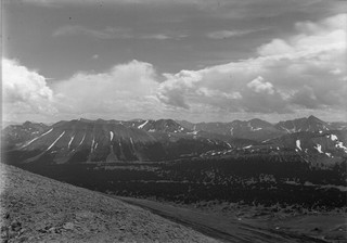 Historical photo of Canadian mountain