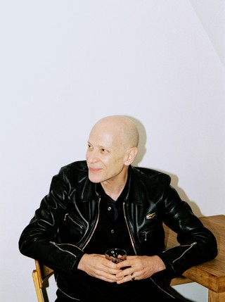 adrian joffe in a leather jacket