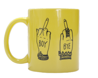 beyonce fingers up mug