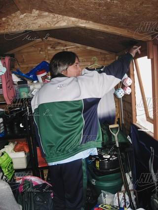 Craiglist seller London Steve in his north London man cave.