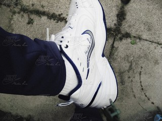 Martine Rose's take on Nike's ultimate dad shoe, the Air Monarch.