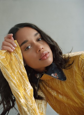 the actress laura harrier shot by daria kobayashi ritch