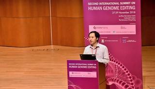 He auf einer Konferenz in Hongkong