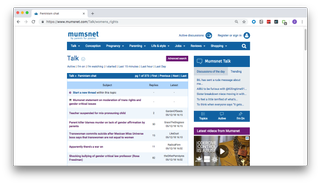 Screenshot of Mumsnet Feminism forum