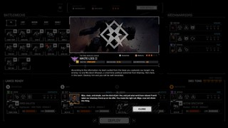 A mission screen from BattleTech featuring contract terms and a character's gloss on the misson briefing.