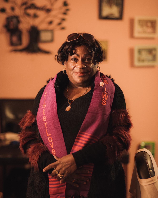 Ruby Gardner in her home