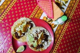 Fresh chorizo tacos