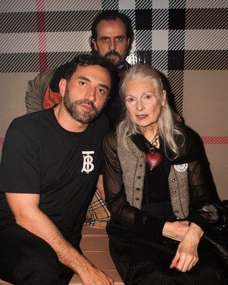 1544453017814-Riccardo-Tisci-Vivienne-Westwood-and-Andreas-Kronthaler-at-a-party-to-celebrate-the-launch-of-the-Vivienne-Westwood-and-Burberry-collaboration-collection