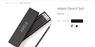 Adele pencils