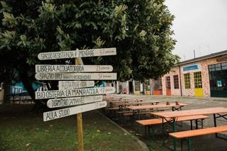L'ingresso del centro sociale Django