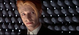David Bowie with orange hair in The Man Who Fell to Earth