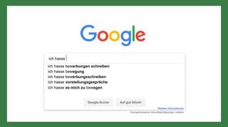 Google Suche Ich hasse Bewerbungen