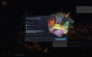 Starter deck from 'Artifact'