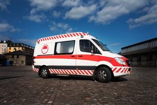 Sexelancens ombyggede ambulance