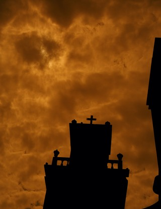 zachary chick photographs a church tower