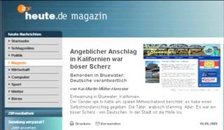 Auch heute.de berichtete über Bluewater