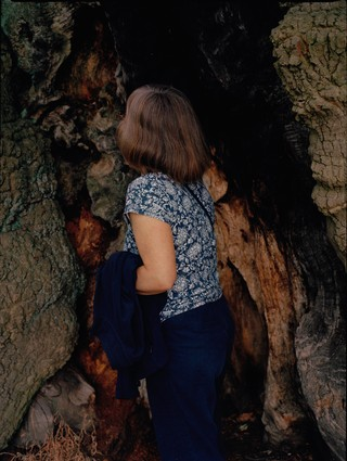vicki king photographs her mum in a cave