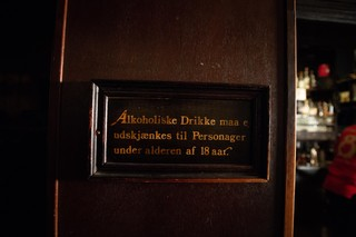 Skilt på bodega i København